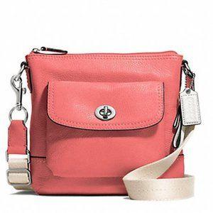 Coach Park Leather SWINGPACK Crossbody Bag Purse